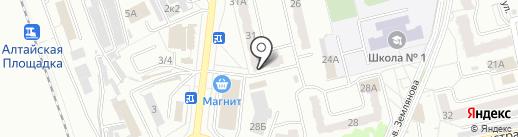 Сашенька на карте Новоалтайска