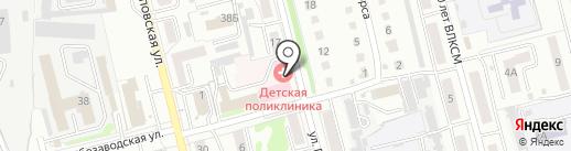 Детская поликлиника, Городская больница им. Л.Я. Литвиненко на карте Новоалтайска