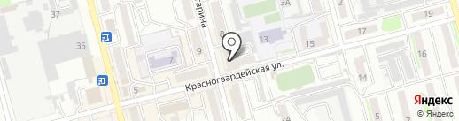Фламинго на карте Новоалтайска