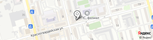 Радиотехник на карте Новоалтайска