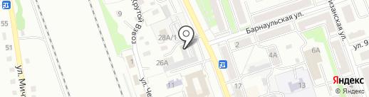 Автодок на карте Новоалтайска
