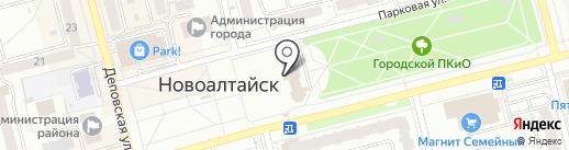 Русские узоры на карте Новоалтайска