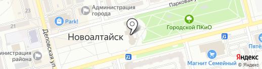Ланце на карте Новоалтайска