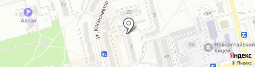 Участковый пункт полиции ОВД по г. Новоалтайску на карте Новоалтайска