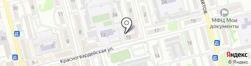 Общежитие, Техникум на карте Новоалтайска