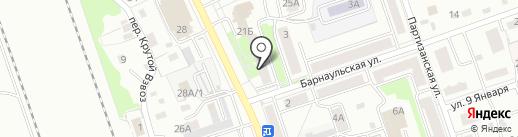 Непоседа на карте Новоалтайска