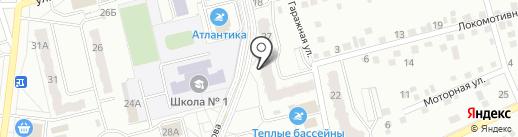Отражение на карте Новоалтайска