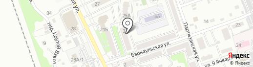 Бархан на карте Новоалтайска