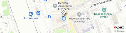 Салон цветов на карте Новоалтайска