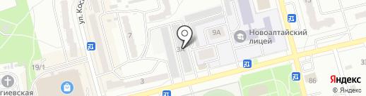 Пилот на карте Новоалтайска