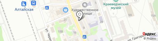 Вояж на карте Новоалтайска