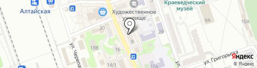 Банкомат, Банк Русский Стандарт на карте Новоалтайска
