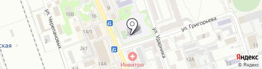 Лицей №8 на карте Новоалтайска