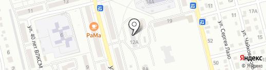 Сияние на карте Новоалтайска