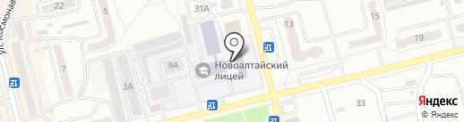 Новоалтайский лицей профессионального образоваия на карте Новоалтайска