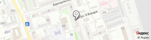 Магнит на карте Новоалтайска