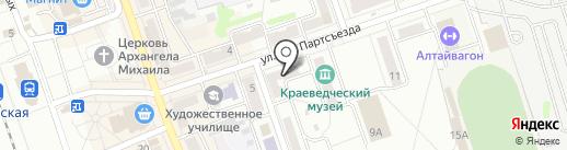 Центральная модельная детская библиотека г. Новоалтайска на карте Новоалтайска