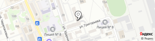 Красотка+ на карте Новоалтайска