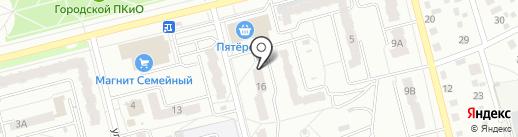 Карамболь на карте Новоалтайска