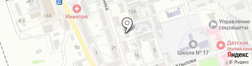 Университетская на карте Новоалтайска