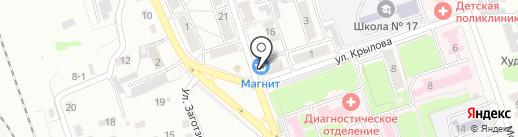 Ангел на карте Новоалтайска