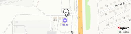 Маяк на карте Новоалтайска