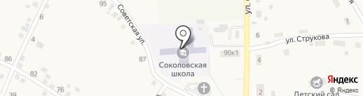 Соколовская средняя общеобразовательная школа на карте Соколово