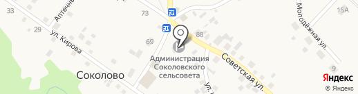 Сельская библиотека на карте Соколово