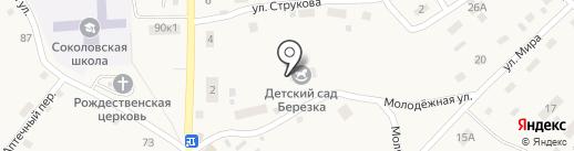 Берёзка на карте Соколово