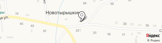 Сибирский купец на карте Новотырышкино
