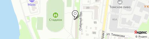 Стадион на карте Томска
