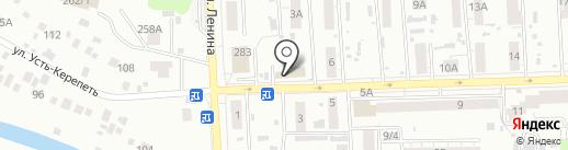 Караван на карте Томска
