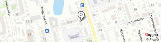 Фрегат на карте Томска