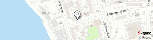 Каштан на карте Томска
