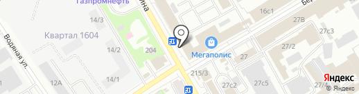 Фортресс на карте Томска