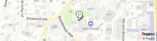 Афинский Квартал на карте Томска
