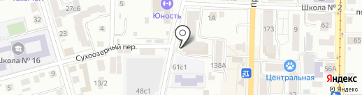 Акватория на карте Томска