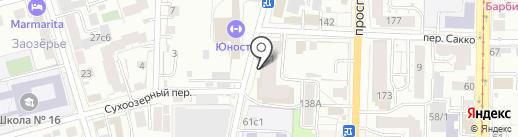 Томская потолковая компания на карте Томска