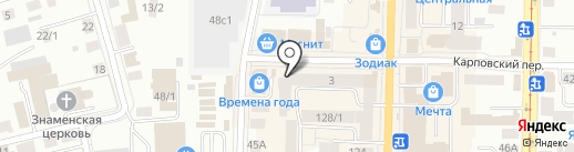 Кафе восточной кухни на карте Томска