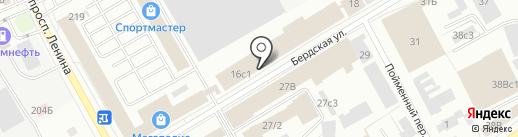Сибирь на карте Томска