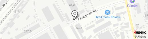 ИЗВЕСТЬ-ЦЕНТР на карте Томска