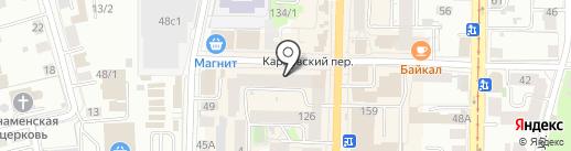 Портрет на карте Томска