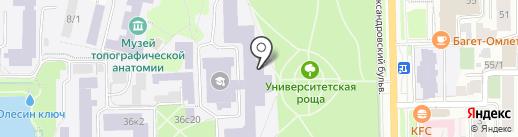 Национальный исследовательский Томский государственный университет на карте Томска