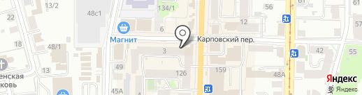 Магазин радиотоваров на карте Томска