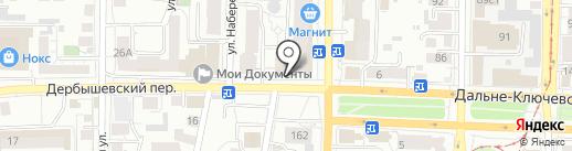 Золотая рыбка на карте Томска