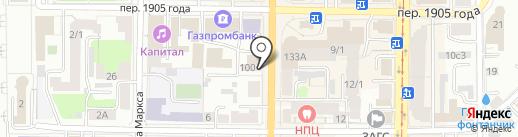 Зеленый папа на карте Томска