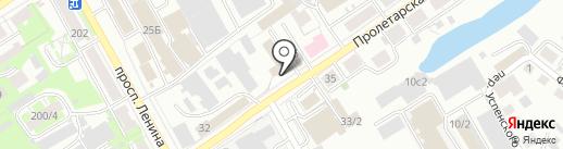 Пролетарский на карте Томска