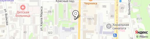 Свадебная лавка на карте Томска