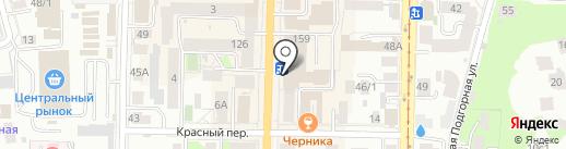 Магазин павлопосадских платков на карте Томска