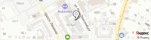Новатор на карте Томска